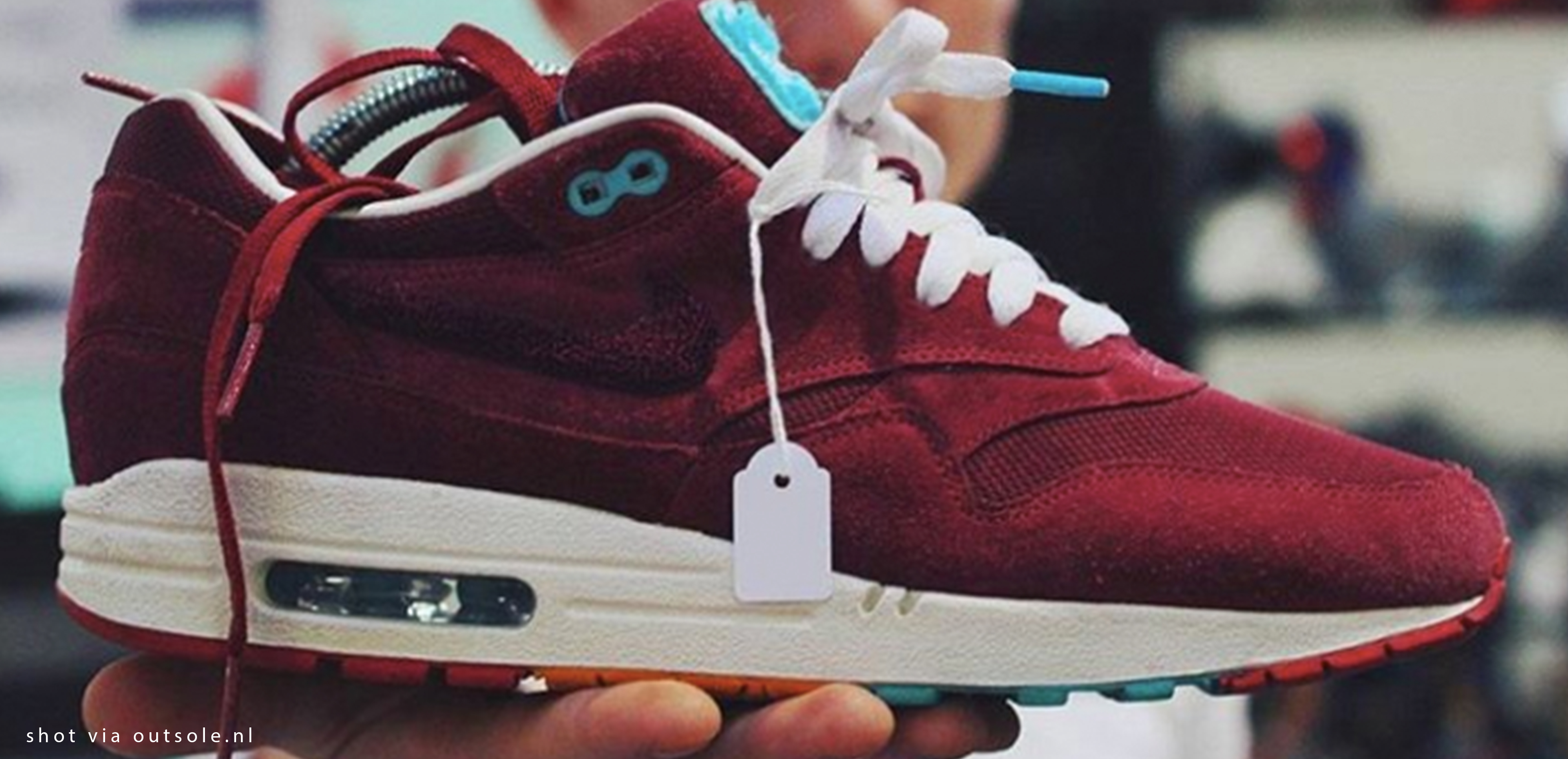 Double trouble | Nike Air Max 1 Patta Burgundy x Parra